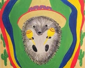 Fiesta Hedgehog art print