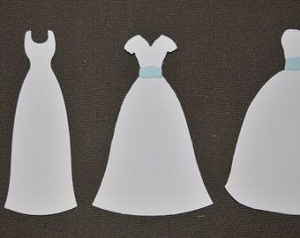Wedding Dresses Die Cuts
