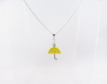 Yellow Umbrella Necklace