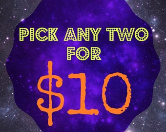 Choose any 2 for 10 dollars bibs and hats