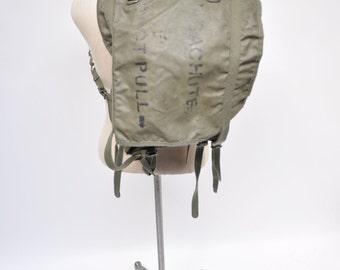 vintage military backpack PARACHUTE  rucksack ruck sack back pack do NOT PULL
