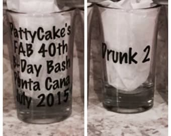 Personalized Shot Glass (personalization on FRONT & BACK)