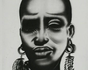 Contemporary African Woman Painting - Original Acrylic on Canvas
