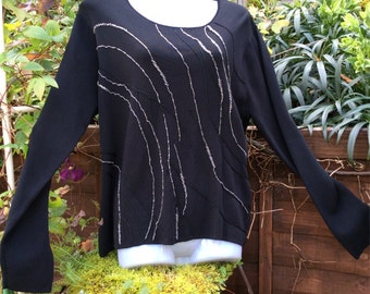 Vintage 80s XL Plus size evening jumper by Fay Louise