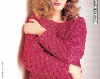 "Crochet pattern - Woman's top ""Net Assets"" - Instant download"