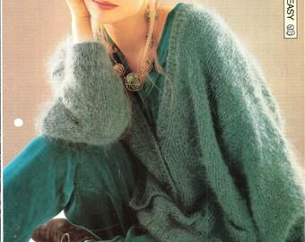 "Knitting pattern - Woman's ""Sea Green"" cardigan - Instant download"