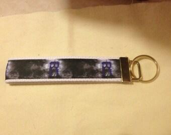 Dr Who wristlet key fob holder keychain