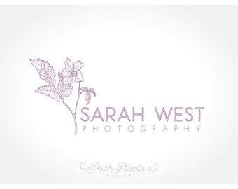 OOAK Logo Design (Premade) Floral Logo, Hand Drawn Logo, Photography Logo, Boutique logo, Flower logo, Shabby Chic