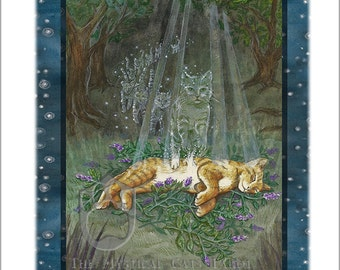 Death,  Giclee Print, from Mystical Cats Tarot