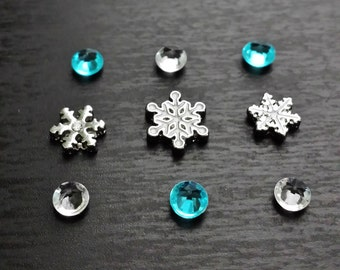 Snowflake Floating Charm Set for Floating Lockets-Gift Idea