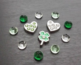 St. Patrick's Day Floating Charm Set for Floating Lockets-Gift Idea