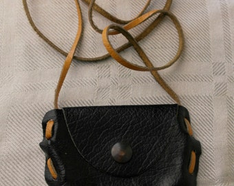 Black neck purse