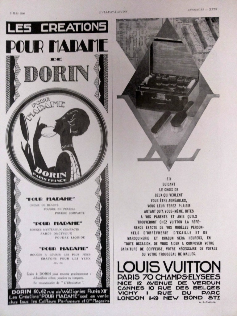 Louis Vuitton Advertising Vintage Ad French Magazine Poster