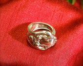 Spoon Wrap Ring made from antique silver plate silverware.