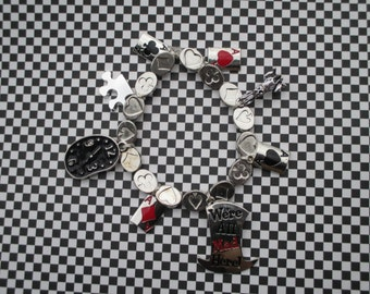 Alice in Wonderland: We're All Mad Here Charm Bracelet