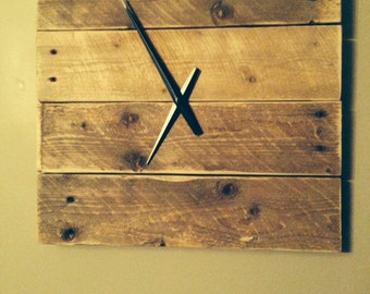 Rustic Pallet Clock - Handcrafted