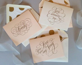 Hand Lettered Love Note Set