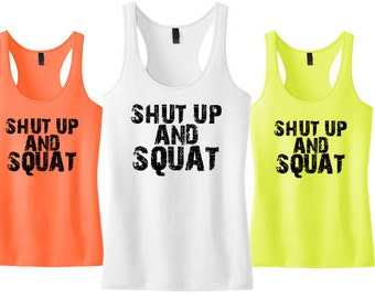 Shut Up and Squat Fitness tank top Ladies