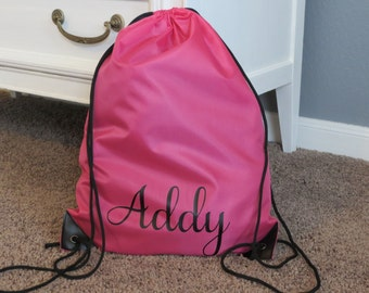 Personalized drawstring bag | Etsy