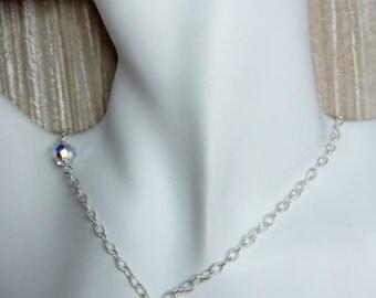 Twirl chandelier drop necklace