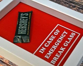 Chocolate Bar - In Case of Emergency Break Glass -  Gift for Chocolate Lover, Gag Gift for Boyfriend, Girlfriend, Valentine, Lover