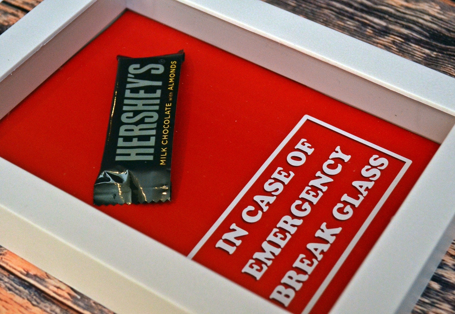 Chocolate Bar In Case Of Emergency Break Glass Gift For
