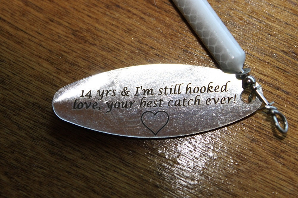 Anniversary gifts for men personalized fishing by for Unique fishing gifts