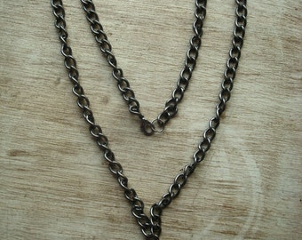 Book Necklace with silver chain