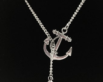 Nana Granny Grandmother Gran You Are My Anchor Lariat Necklace