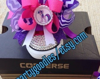 My  little pony twilight Sparkle shoes, bling converse shoes, my little pony shoes, bling bling shoes.