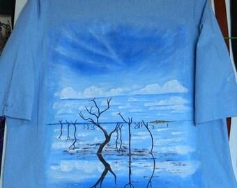 Painted Shirt of Lake Argyle W.A.