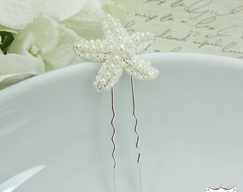 Pearl Starfish WEDDING HAIR PIN, starfish hair accessories, starfish beach wedding, starfish hairclip, pearl starfish hairpin 208383768