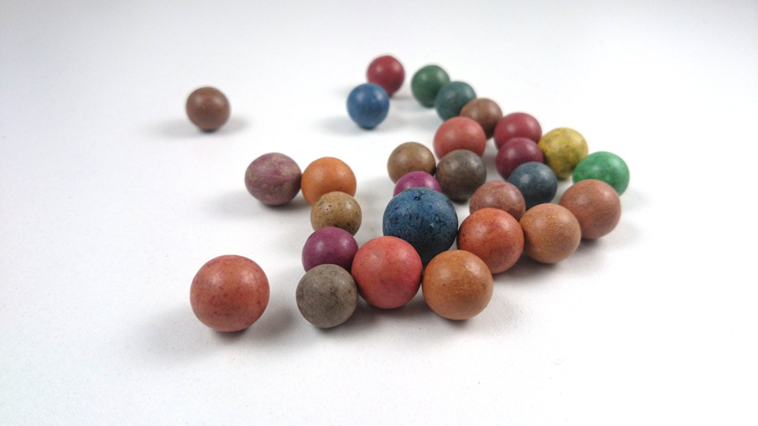 Set Of 28 Antique Clay Marbles Clay Marbles Antique