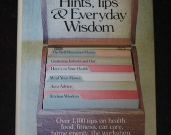 """1985 First Edition Hardcover Rodale Press """"Rodale's Book of Hints, Tips & Everyday Wisdom"""" Edited by Carol Hupping, et al."""