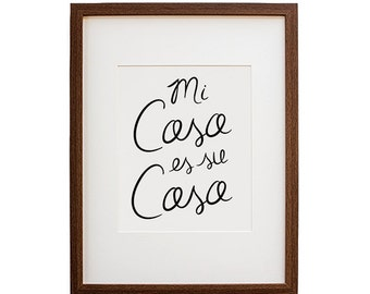Spanish Art Print, Mi Casa Print, Modern Art Print, Minimal Art Print, Home Decor, Modern Decor, Art Print, Simple Art Print, Poster