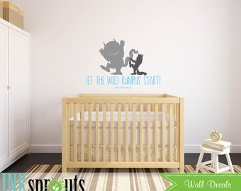 wall decor where the wild things are wall decals where the wild things. Black Bedroom Furniture Sets. Home Design Ideas
