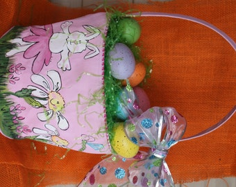 Personalized Easter Basket boutique style by TadpoleandLillies