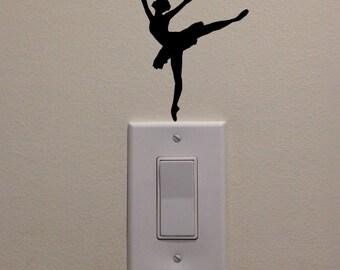 "Ballet Dancer Dancing on Light Switch - Car/Truck/Home/Computer/Phone Decal (4""H)"
