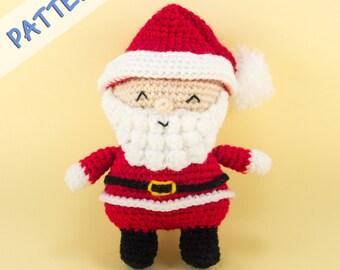 Amigurumi Santa Pattern - Santa Claus Crochet Pattern - Santa Doll Pattern - Christmas Santa Crochet Pattern - Holiday Amigurumi Pattern