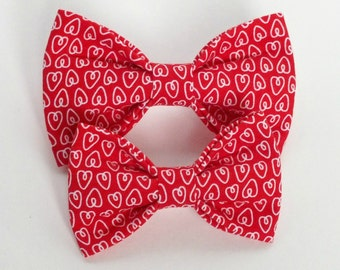 Valentines Hearts Dog Bow Tie, Cat Bow Tie, pet bow tie, collar bow tie, wedding bow tie