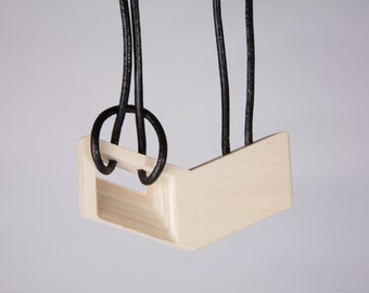 Modern geometrical necklace  | wooden jewelry