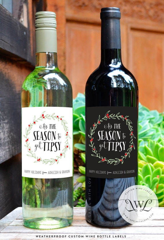 Tis the Season to Get Tipsy Wine Labels