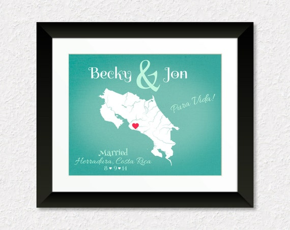 Wedding Gifts For Couples Who Like To Travel : ... Wedding Gift, Anniversary Present, Gift for Couples, Gift for Spouse