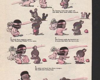 """Original Good Housekeeping cartoon """"Yoomee"""" by James Swinnerton 1930s, 8x11 in. - Kids223"""