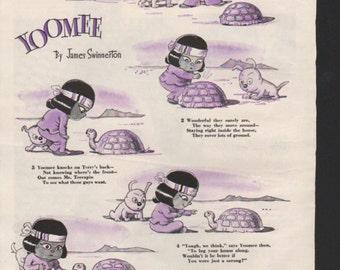"""Original Good Housekeeping cartoon """"Yoomee"""" by James Swinnerton 1930s, 8x11 in. - Kids228"""