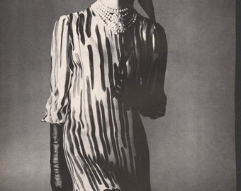 Four original fashion photo/illustrations, Vogue or Harpers Bazaar, 9x12 in - fash664