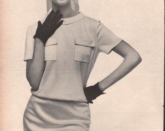 Five original fashion photo/illustrations, Vogue or Harpers Bazaar, 9x12 in - fash638