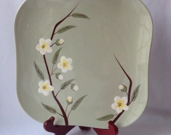 Blossom Hand Decorated Weil Ware Floral Plate -Made In California