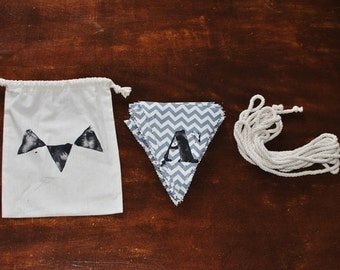 Alphabet bunting kit - Make your own words