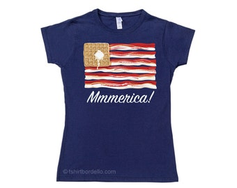 Mmmerica Bacon Womens T-Shirt